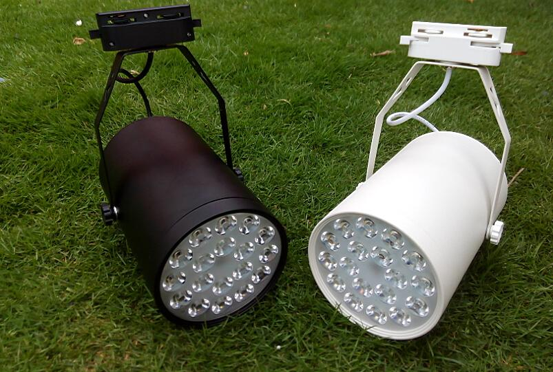 18 W Giyim Mağazası LED Spot 110 V 220 V Parça Raylı Tavan Spot Aydınlatma Ticari Aydınlatma için Bombilla Siyah Beyaz Konut dekorasyon