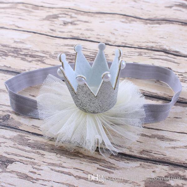 Glitter Crown Headband for girls ,Black Red Pearl Lace Baby Headband ,baby birthday crown headband ,newborn baby birthday crown