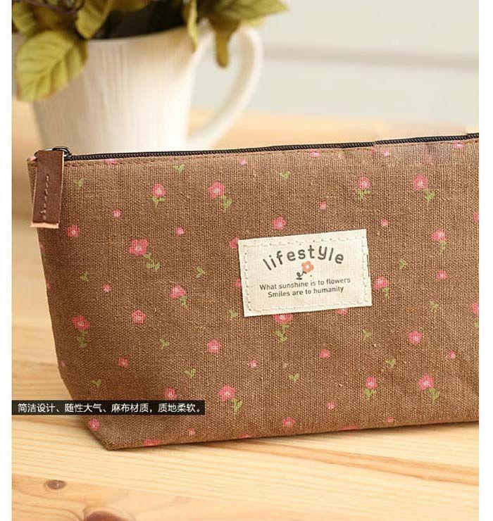 Женщины новый цветок цветочный карандаш пенал косметический макияж инструмент сумка для хранения сумка кошелек DHL #71746