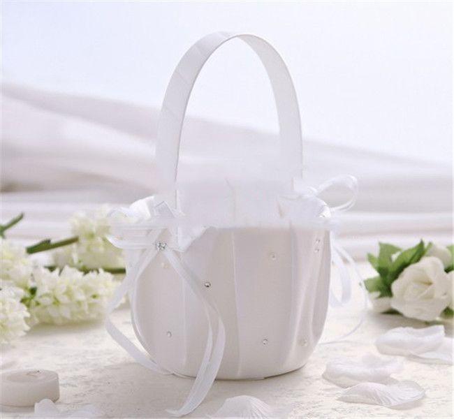 Свадебная цветочная корзина с 3D Rose Square Drill the Bride Basket European Style Wire Cloth Class Fashion прекрасная Жара в 2015 году