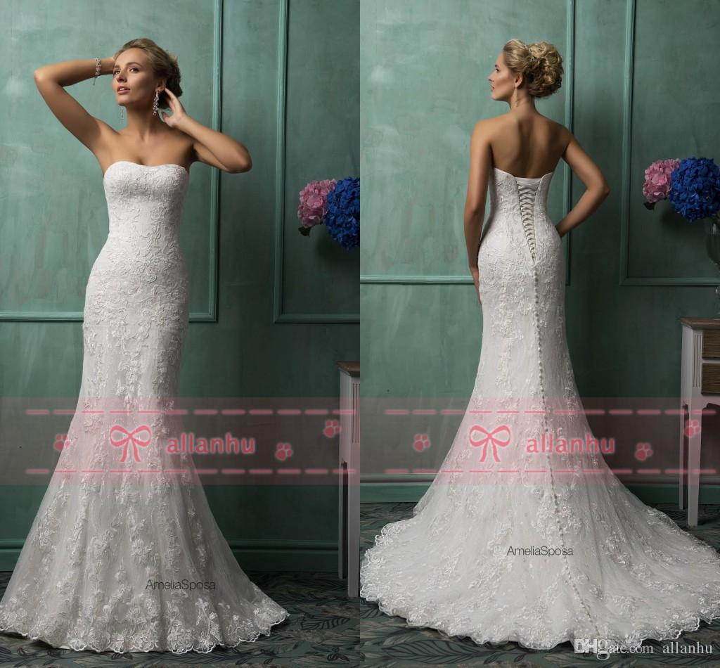 Corset Lace Mermaid Wedding Dress
