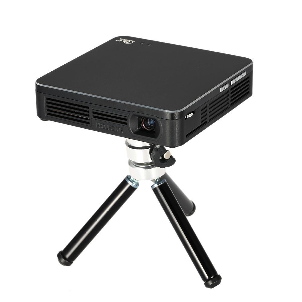 HDP200 DLP LED العارض FHD 1000: 1 نسبة التباين واي فاي Miracast البث USB HDMI العارض مع ترايبود مسرح منزلي فيديو ألعاب