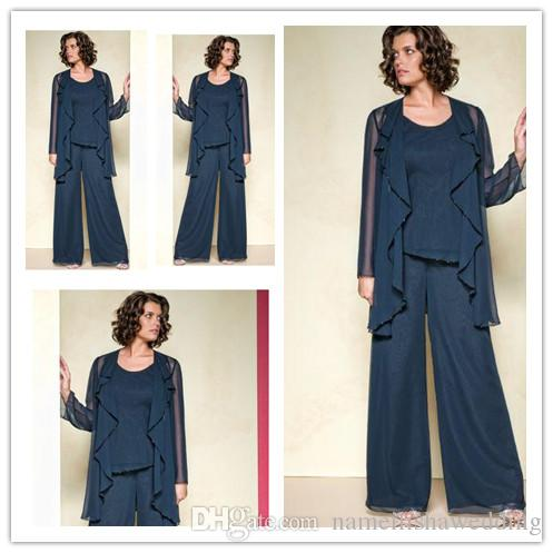 66401b5c4a1 Mother Off The Bride Pant Suits 2015 Plus Size Three Pieces Woman ...