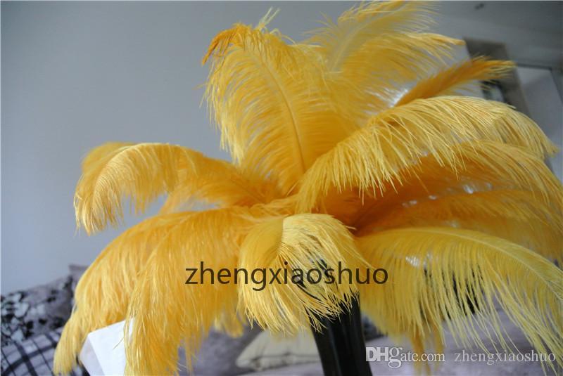 Düğün merkezinde Tablo için Toptan / 12-14inch 30-35cm Altın devekuşu tüyleri Parti takılar kullanmıyor kaynağı Centerpieces