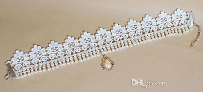 Большой белый жемчуг Лента колье ожерелье кружева свадебные ювелирные изделия цепи ключицы женщины ювелирные изделия вентилятор Bingbing стиль GY069