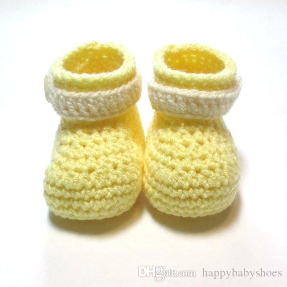 b3b427809 2019 Pastel Yellow And Cream Baby Booties. Crochet Baby Booties. Ready To  Ship. Spring