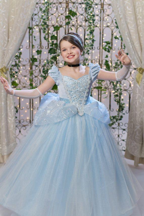 Cinderella Pageant Kleider für Jugendliche kurze Flügelärmeln Falten Pailletten Schnürung Himmelblau Kinder Ballkleid Blumenmädchen Kleid Tüll Mädchen Abendkleid