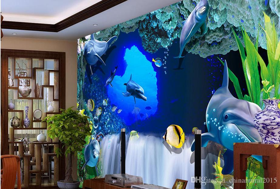 Crwall mural foto wallpaper eative 3D espacio tridimensional tranquilo Zhiyuan mural foto fondo de pantalla