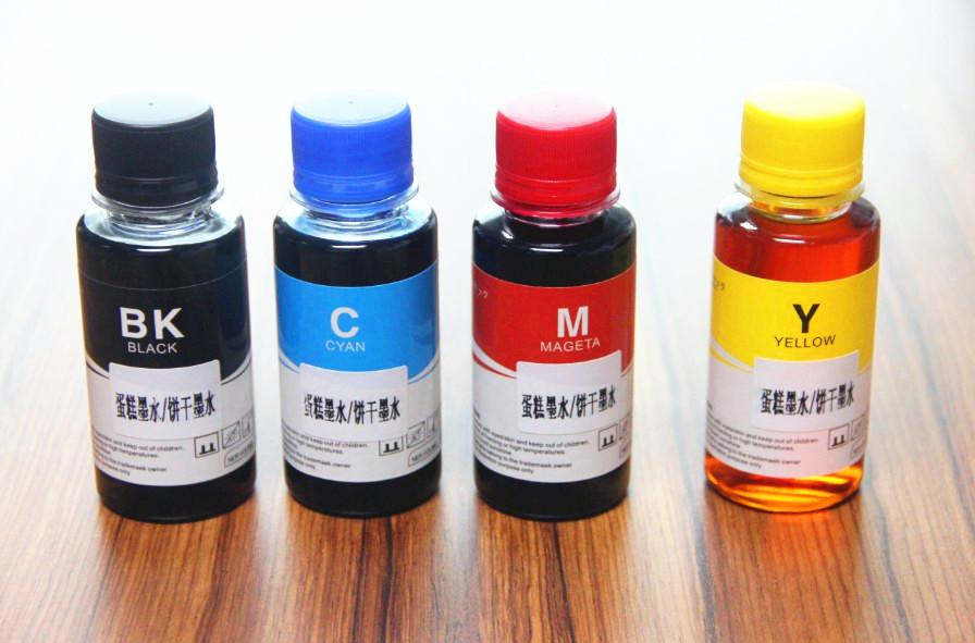 2018 100ml*Edible Ink Cake Ink Food Ink Chocolate Ink Compatible For ...