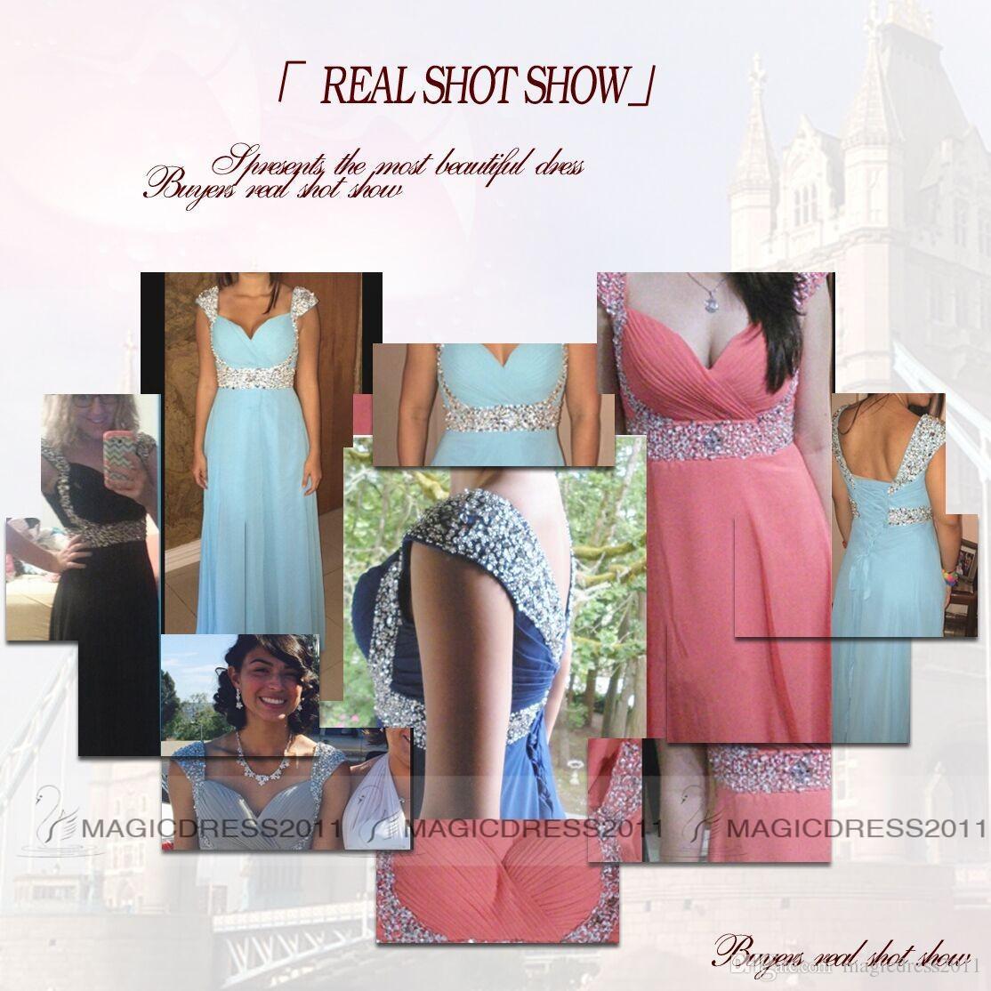 Vestidos de baile Sem Encosto Longo Chiffon Formal Vestidos de Noite A-Line Querida Frisado Hortelã Vermelho Laranja Borgonha Dama de Honra Vestidos de 2019