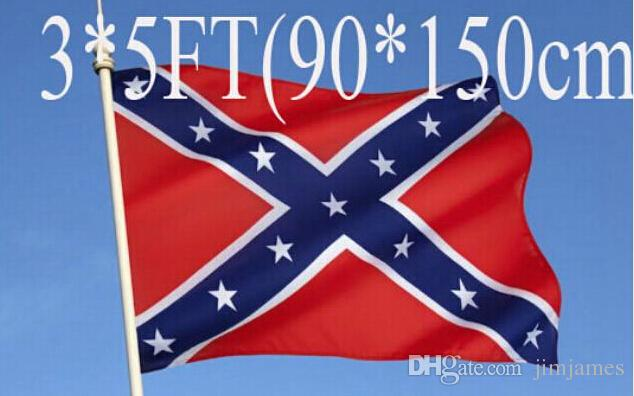 5pcs two Sides Printed Flag Confederate Rebel Civil War Flag National  Polyester Flag 5 X 3FT free shipping
