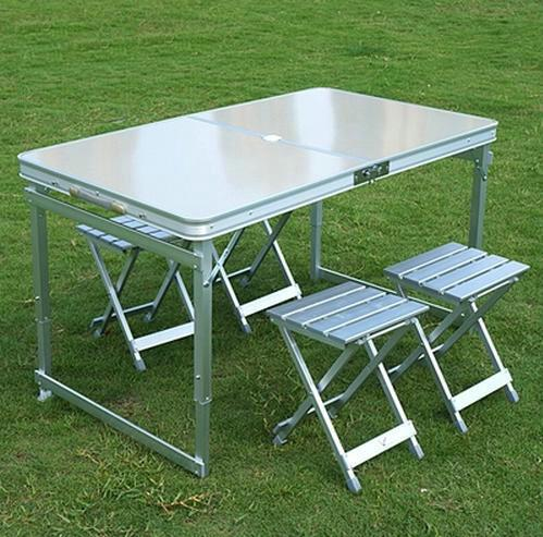 Best Quality Aluminum Outdoor Table Sets,1 Table 4 Chairs,Folding Table And  Chairs,Outdoor Furniture, Picnic Tables Steady Portable ,120x70cm At Cheap  Price ...