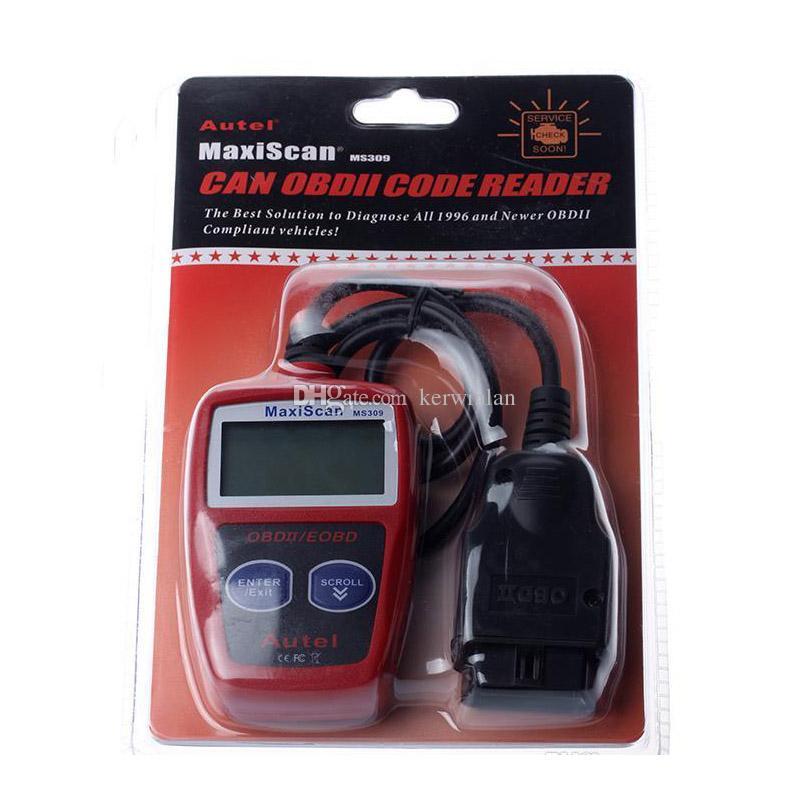 MaxiScan MS309 Autel CAN OBD2 Tarayıcı Kod Okuyucu OBDII Otomatik Tarayıcı Araç Teşhis Aracı ms309 Ücretsiz Kargo