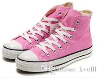 2017 Clássico 35-45 Novo Unisex Alta-Top das Mulheres Adulto Lona Running Shoes 13 cores Laced Up Sapatos Casuais Sapatilha sapatos