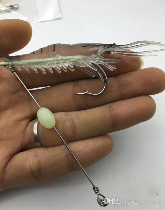 artificial Shrimp Built-in Hook Bait Shrimp luminous Shrimp winter sea fishing lure 3