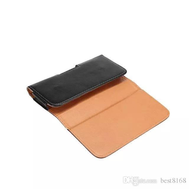 Hip Horizontal Sheep Leather Clip Holster Case For Iphone XR XS MAX 10 X 8 7 6 6S 5 5S SE Galaxy S9 S8 Note 9 8 Buckle 360 Degree Belt Pouch