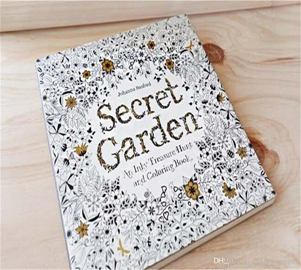 Secret Garden An Inky Treasure Hunt And Coloring Book For Children Adult Relieve Stress Kill Time Graffiti Painting Drawing Free Printable