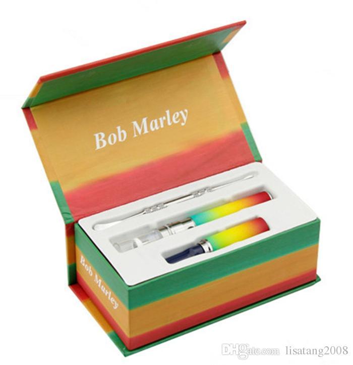 Bob marley kit caixa seca herbal vaporizador vape canetas cera erva Seca atomizador apto para bateria ego-t