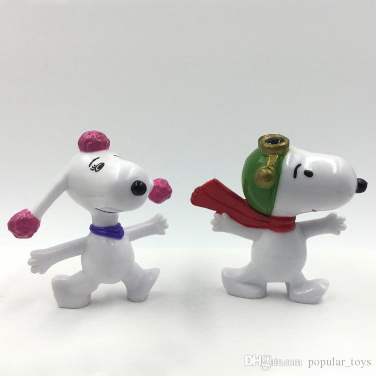 Wholesale Peanuts Comics Pencil Stub Toys Charlie Brown And Snoopy Figures Toys 7 Styles Snoopy Action Figures Dolls