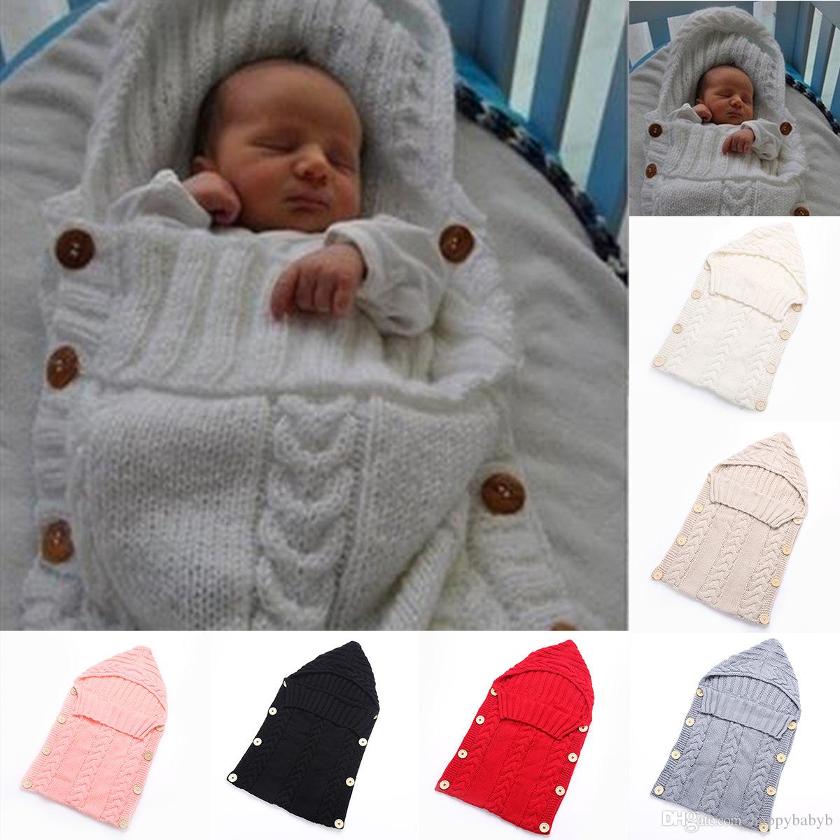 Ins Baby Swaddle Wrap Infant Crochet Wraps Sleeping Bags Toddler ...