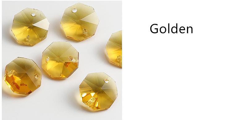 Octagon Bead Crystal Beads Bead Curtain Lighting Accesorios para el hogar es de alta calidad Crystal Glas Material