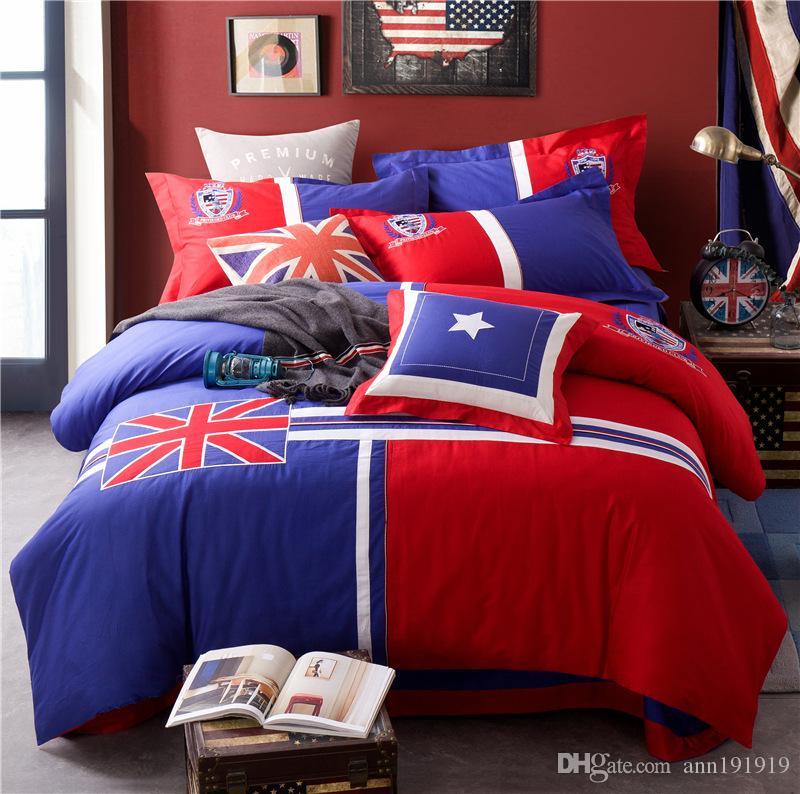 Saf pamuk yastık ile 4 parça sevimli çocuk yatak seti çarşaf çarşaf nevresim oğlan kız çocuk yatak