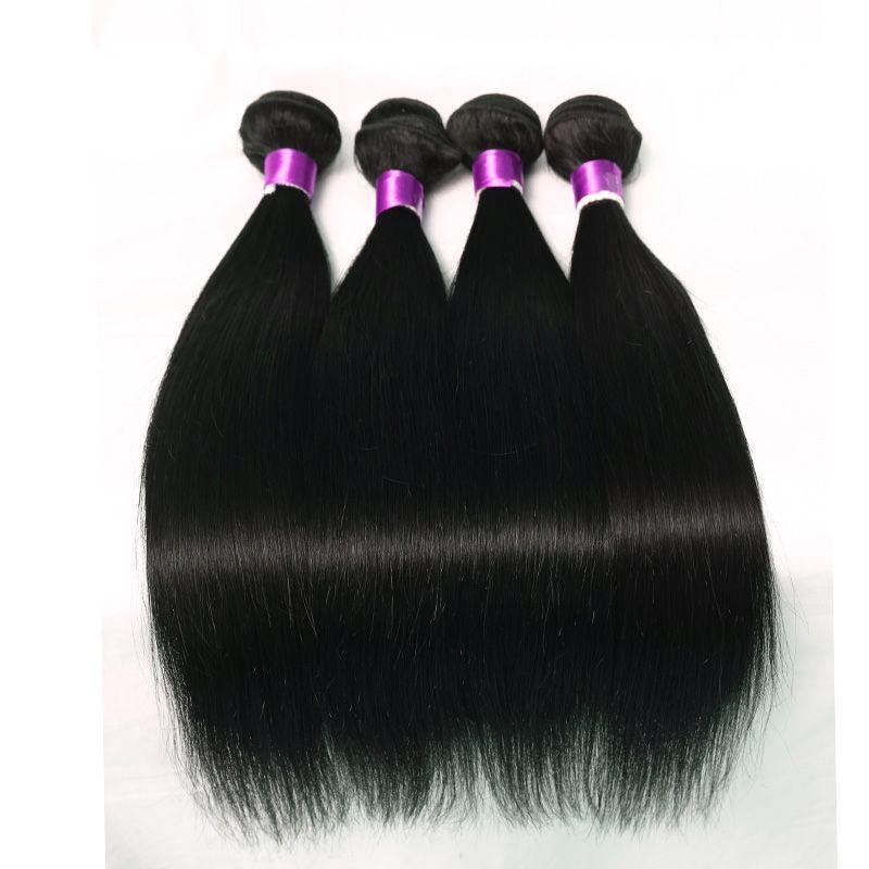 8A 처리되지 않은 브라질 스트레이트 바디 웨이브 처녀 인간의 머리 확장 3/4/5 번들 100 % 레미 처녀 브라질 페루 말레이시아 머리