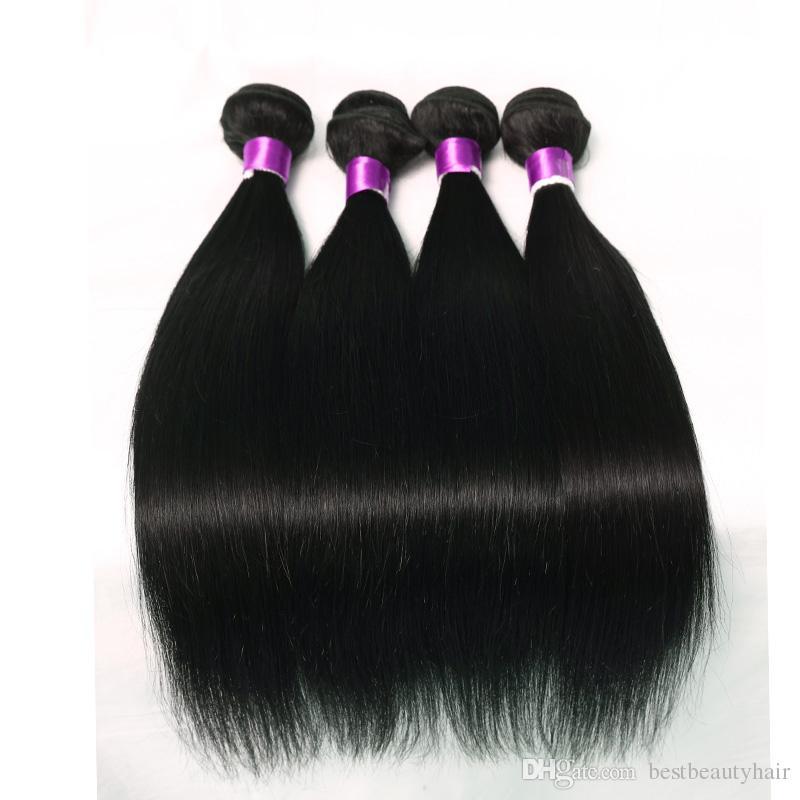 Brazilian Straight Virgin Hair Wefts 3 Bundles Natural Black 100% Unprocessed Brazilian Straight Human Hair Extensions Cheap Brazilian Hair
