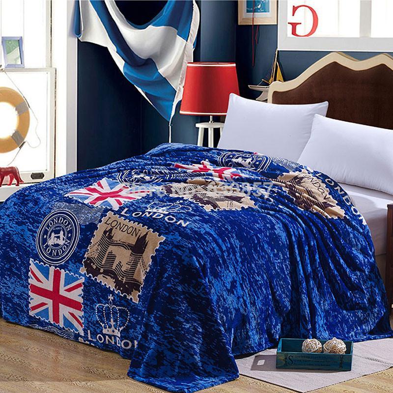 polyester bed cover blanket fur crochet soft fluffy fleece blankets