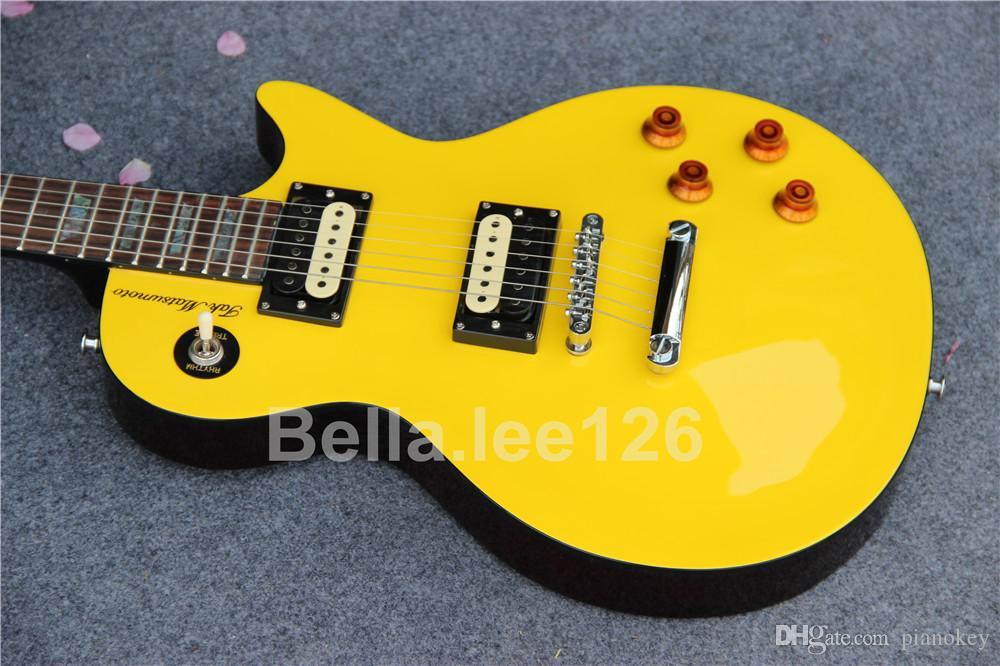 متجر مصنع OEM للجيتار ، أكثر آلات الموسيقى شعبية ، القيثارات الكهربائية جاك ماتسوموتو ، قمة ليمون والظهر البني