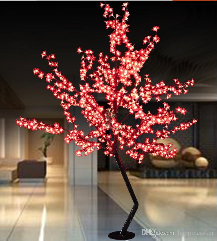 Pink Christmas Lights.Led Cherry Blossom Tree Light Led Bulbs 1 8m Height 110 220vac Seven Colors For Option Rainproof Outdoor Usage Pictures Of Christmas Decorations Pink