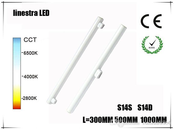 newest led linestra s14d s14s led light 3w 6w 10w 15w 300mm 500mm 1000mm direct replacement. Black Bedroom Furniture Sets. Home Design Ideas