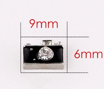 Black Camera Floating Locket Charms Fit For Glass Living Magnetic Memory Locket Fashion Jewelrys