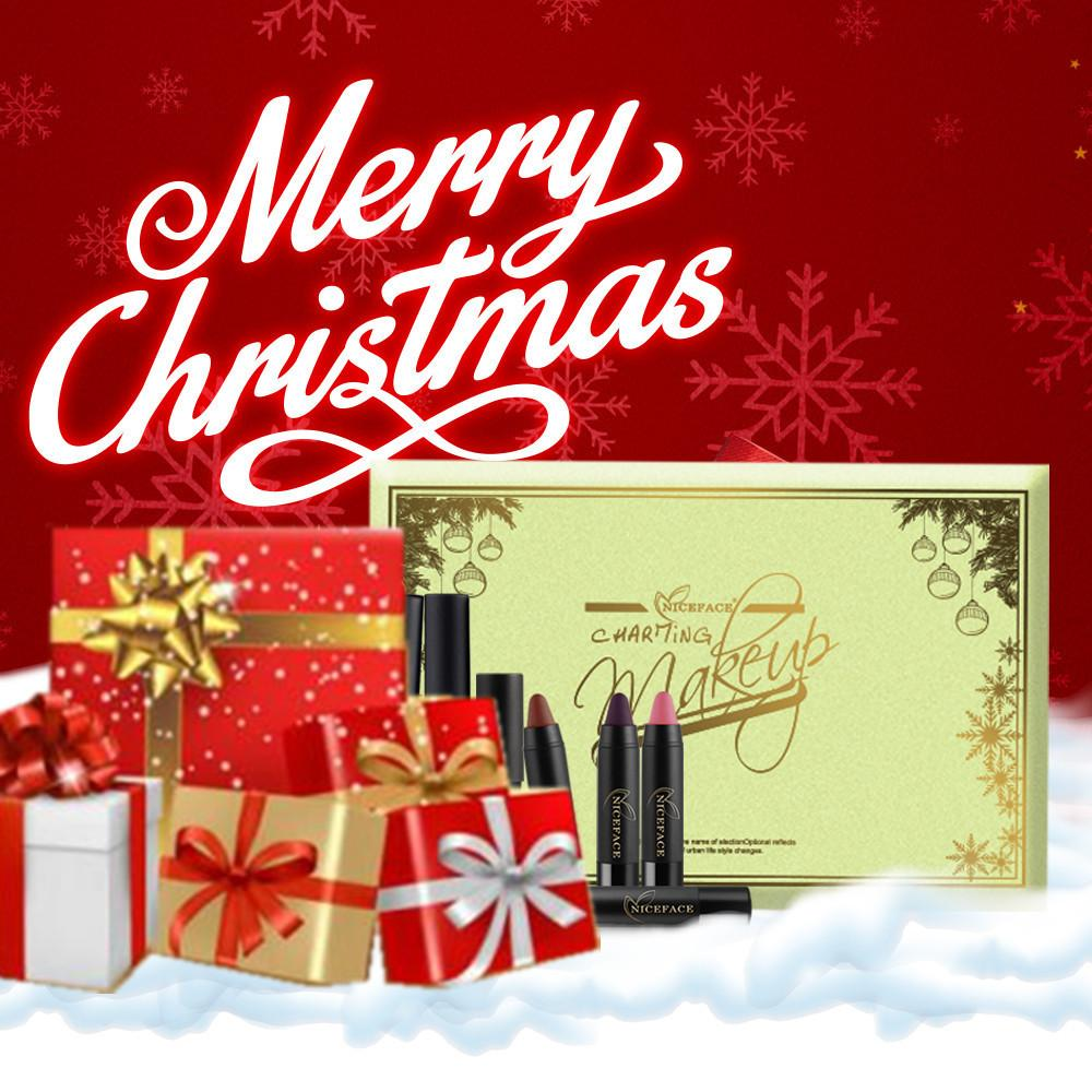 Christmas health ceremony christmas gift set lip liner lip gloss christmas health ceremony christmas gift set lip liner lip gloss lipstick lip sets niceface high quality low price home and health care home healthcare reheart Gallery