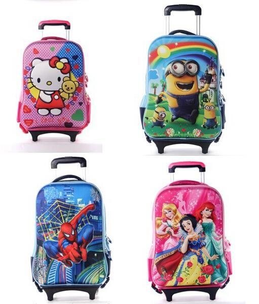 Children Minions 3d Bags Girls&Boys Trolley School Bags Classic ...