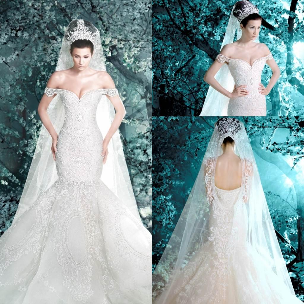 2016 Gorgeous Michael Cinco Church Wedding Dresses Mermaid Backless ...