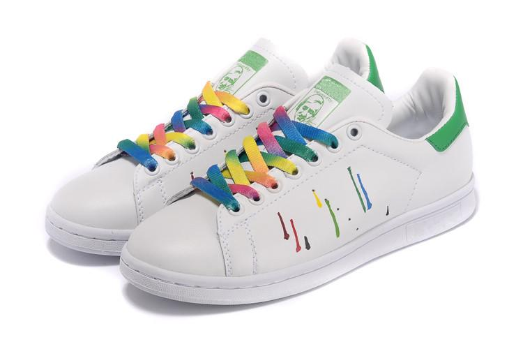 ... order best 2015 fashion stan smith colorful splash ink sneakers genuine  leather women mens smith colorful ec17c345a