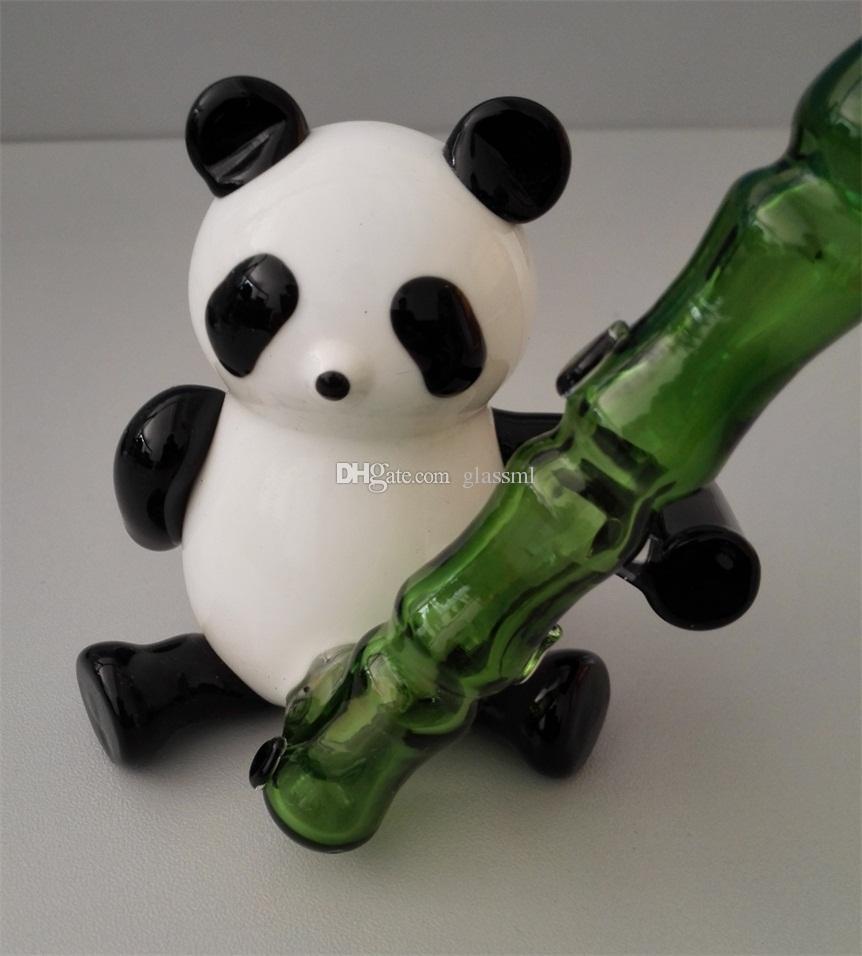 panda de tuyau de fumage, narguilé en verre, joliment conçue, bienvenue sur commande