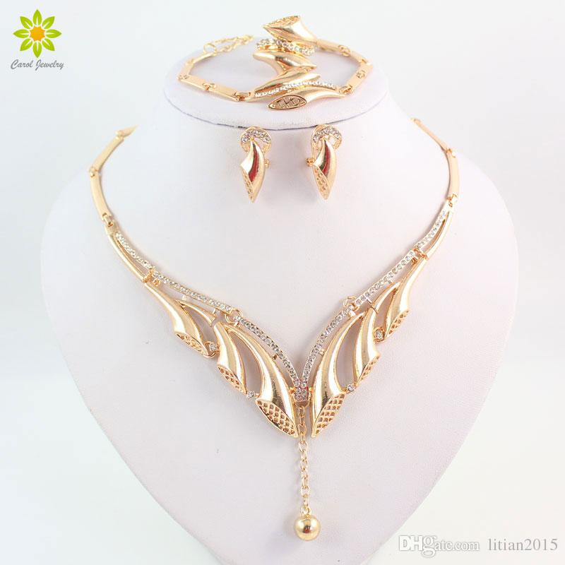 New Design Women Jewelry Set Fashion Gold Plated Jewelry African