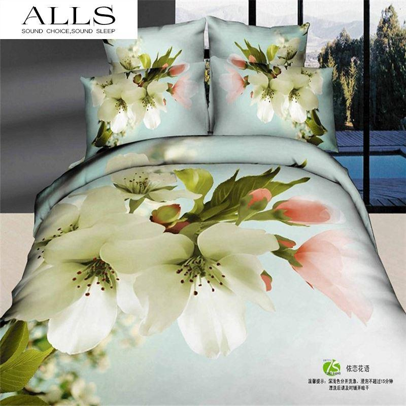 100 cotton 3d bed linen white and yellow flower bedding sets for 100 cotton 3d bed linen white and yellow flower bedding sets for children duvet cover flat sheet pillow case king size bedding cover bedding discount from mightylinksfo