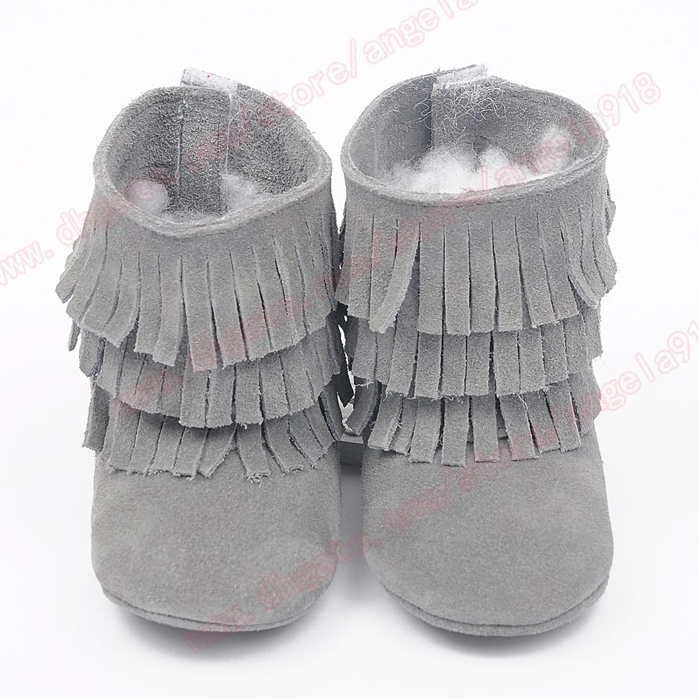Multy Color Baby moccasins soft sole 100% genuine leather first walker shoes baby leather newborn shoes Tassels maccasions boot /bootie A076