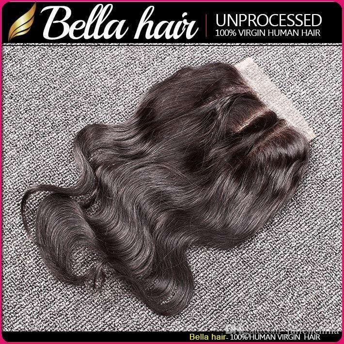 Bella Hair® brasiliane fasci di capelli con chiusura a doppia trama 8-30 estensioni dei capelli umani dei capelli tesse Chiusura corpo onda ondulato Julienchina