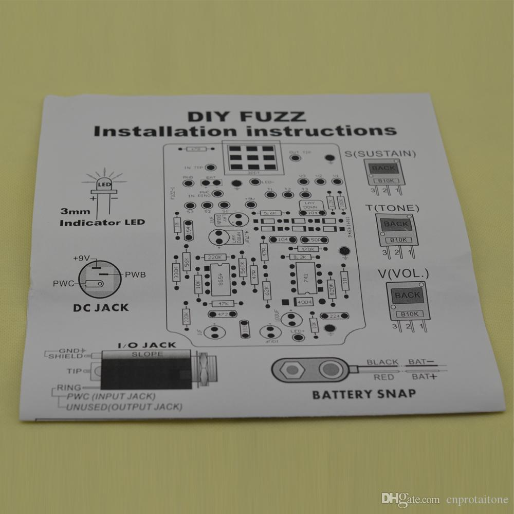 ttone DIY Fuzz& Distortion pedal Guitarra electic,Effect Guitar pedal Musical Instruments+