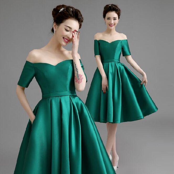 Grecian Emerald Green Bridesmaids Dresses