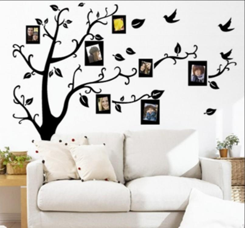 Family Tree Wall Picture Frame x large room photo frame decoration family tree wall decal sticker