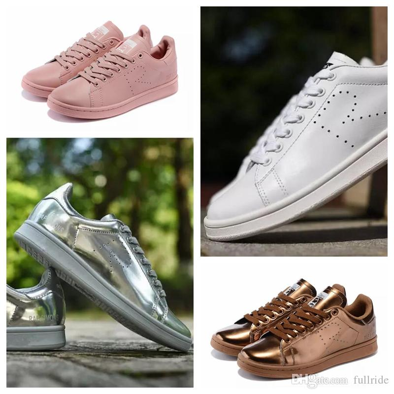 2176dddb554 2019 Raf Simons Stan Smith Spring Copper White Pink Black Fashion Shoe Man  Casual Leather Brand Woman Man Shoes Flats Sneakers Best Shoes Italian Shoes  From ...