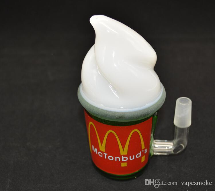 новый стиль мороженого стекло водопровод стеклянные бонги для курительной трубы нефтяной вышке стеклянная труба воды стекло бонг трубы кальян Макдональд Кубок Starbuck Кубок