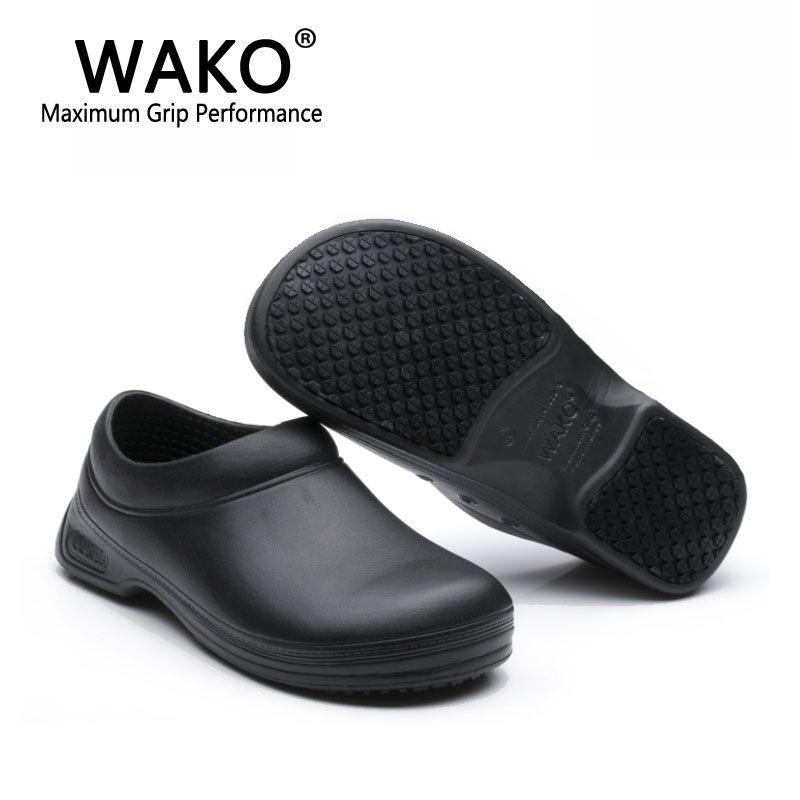 alta calidad mejor online reputación confiable Compre WAKO 9031 Hombre Mujeres Cocinero Zapatos Negro Super Antideslizante  Cocina Zapatos Masculino Cocinero Zapatos De Seguridad Sandalias ...