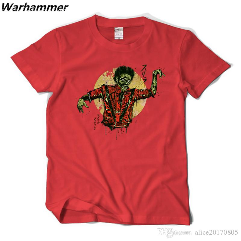 da456d6bc72 2017 New Arrival Men T Shirt Michael Jackson Thriller Tee Shirt Homme Rock  Short Sleeve Print Cotton Oneck Big Yard Music Fans Must T Shirts Design  And ...