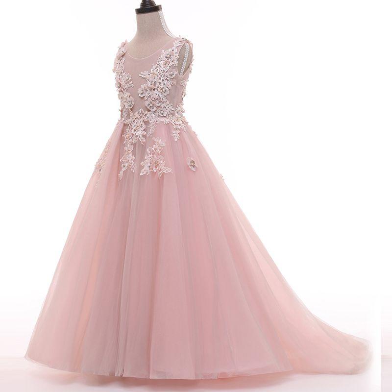 bc5d145290a2c Acheter Nouvelle Belle Fille De Fleur Robes Pour La Fête De Mariage Robe  Daminha Alibaba Chine Enfants Robe D anniversaire Pageant Robes De Fille De   91.46 ...